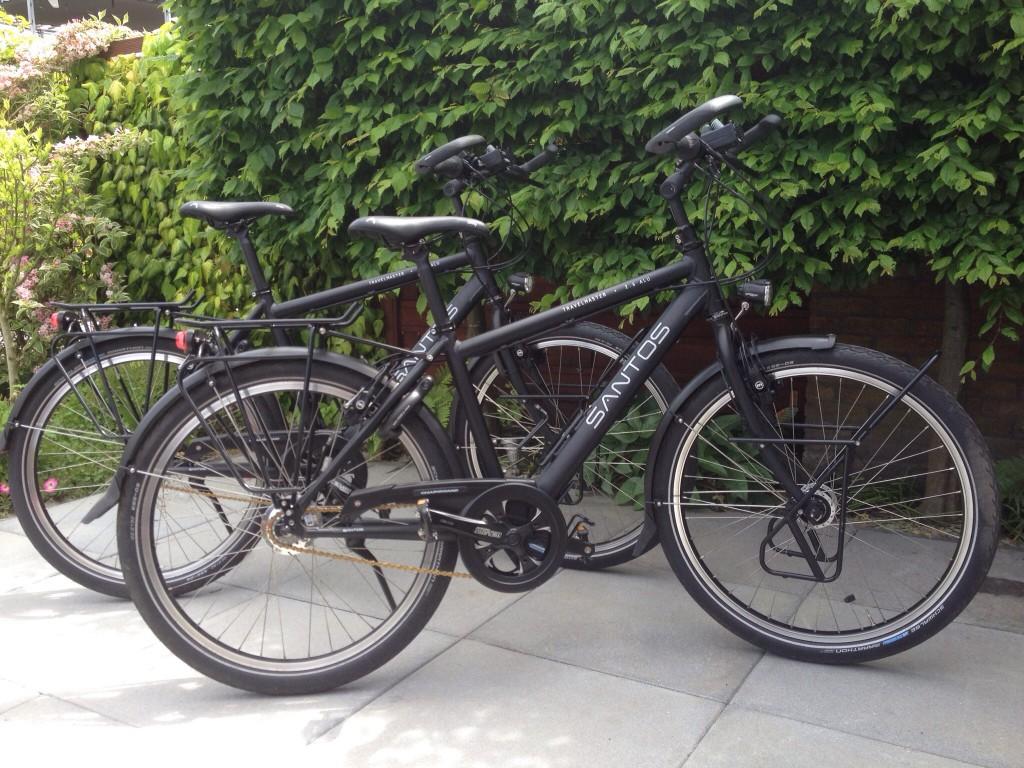 Onze nieuwe Santos fietsen